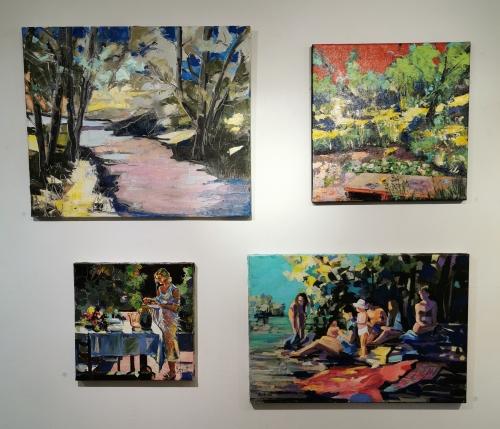 exposition,jean-paul schmitt,venterol,2019,peinture,dessin,gravure,encre,drôme provençale