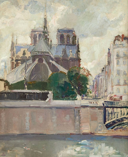 Marcel Jefferys (1872-1924) Vue de Notre-Dame de Paris.jpg