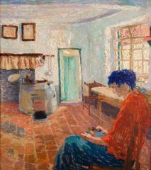 Thevenet Louis, Femme assise dans un intérieur.jpg