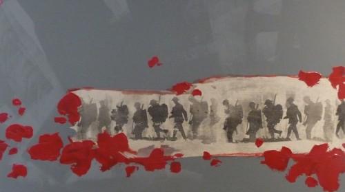 exposition,la grande guerre,1914-18,denderleeuw,herdenking,tentoonstelling,linda van der meeren,dessin,peinture,objets,collection lorenzo de prez,armée belge,histoire,guerre,belgique,culture