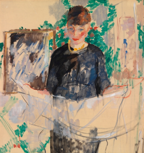 RIK-WOUTERS_Woman in black reading a newspaper.jpg