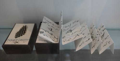 jephan de villiers,le signe et la mémoire,exposition,bibliotheca wittockiana,bruxelles,écritures,dessins,sculpture,livres d'art,culture