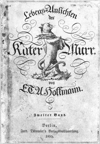 hoffmann,le chat murr,roman,littérature allemande,vie de chat,kreisler,musique,apprentissage,amour,culture
