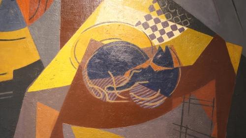 Cubisme Vanber Le chat devant la cheminée détail.JPG