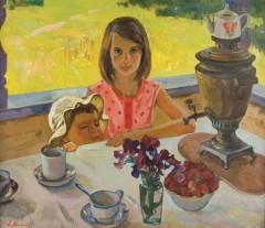 Ecole russe Deux enfants à table.jpg