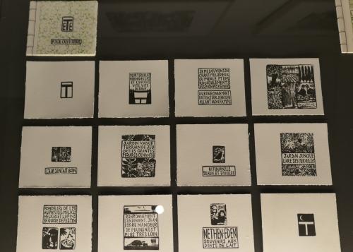 kikie crêvecoeur,entre les pages,exposition,bobliotheca wittockiana,1150 bruxelles,gravure,gommes,trognes,livres d'art,culture