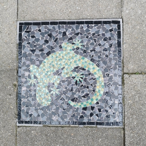 mosaïque,trottoir,schaerbeek,1030