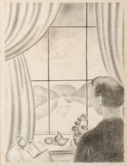 VdW Le peintre devant sa fenêtre 1920.jpg