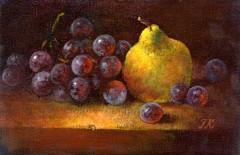 Khromova Tatiana Nature morte aux raisins noirs.jpg