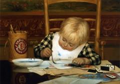 Anonyme Enfant peignant.jpg