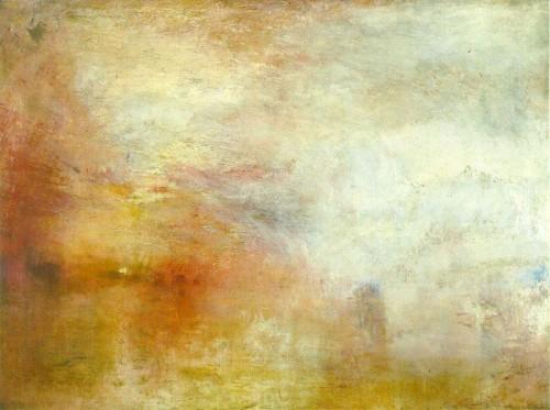 P Turner, Sun Setting over a Lake.jpg