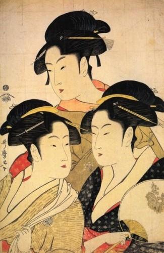 Utamaro Trois beautés inconnues (Wikimedia commons).jpg