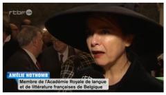 nothomb,amélie,académie royale de langue et de littérature françaises de belgiq,réception,2015,écrivain belge,culture