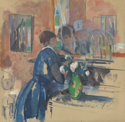 RIK-WOUTERS_Lady in blue before a mirror.jpg