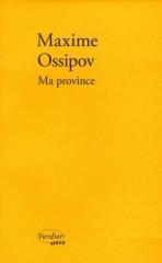 maxime ossipov,ma province,récit,littérature russe,médecine,province,russie,société,culture