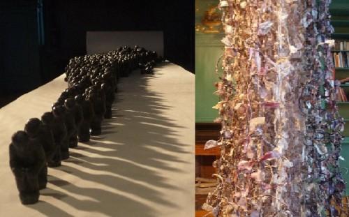 cent noeuds,sans visage,arlette vermeiren,anne liebhager,exposition,bruxelles,schaerbeek,textile,papier,sculpture,installation,culture