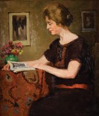 Mahaux Eugène 1874-1946 Dame lisant.jpg