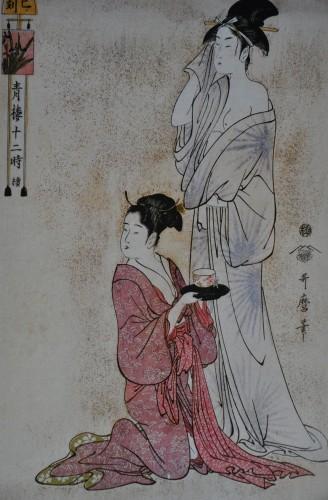 utamaro,les douze heures des maisons vertes,exposition,musée d'art japonais,mrah,bruxelles,musées d'extrême-orient,estampes japonaises,peinture,culture