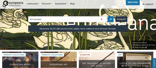 art nouveau,europeana,collections,exposition,europe,culture,site,internet,ressources,bibliothèque,numérique,recherche