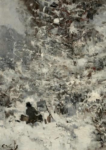 VOGELS Guillaume, Pantazis peignant dans la neige, c. 1881.JPG