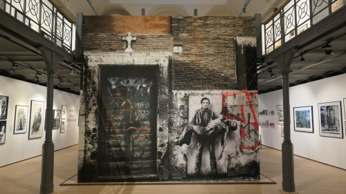 ernest pignon-ernest,empreintes,exposition,le botanique,bruxelles,interventions,dessins,photos,parcours d'artiste,art contemporain,art urbain,culture