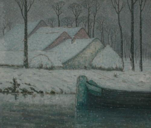degouve de nuncques,exposition,peinture,namur,musée rops,symbolisme,paysage,nocturne,neige,culture