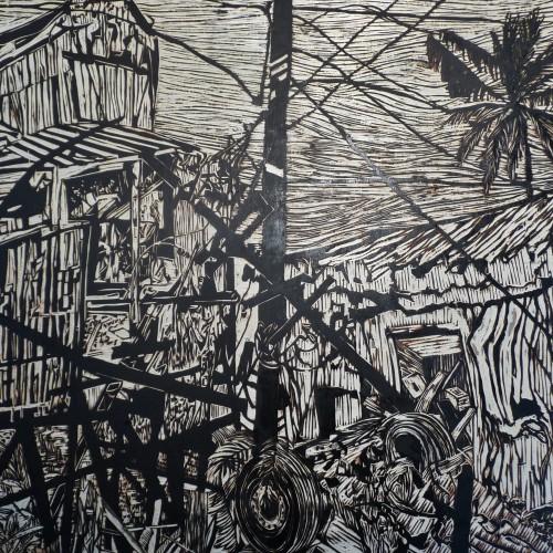 tsunami,exposition,van de walle,nathalie,gembloux,360°,architecture du paysage,xylogravure,estampe,art,science,culture