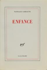 Sarraute Nathalie-enfance-gallimard-1983-edition-originale-velin-d-arches-grand-papier-broche-non-coupe.jpg