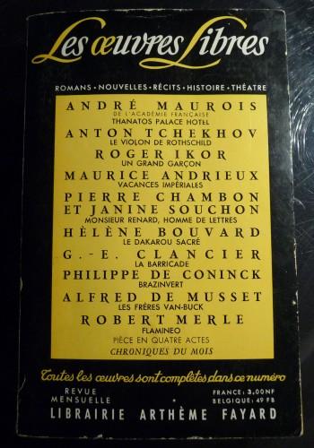 Les oeuvres libres Librairie Arthème Fayard.JPG