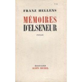hellens,mémoires d'elseneur,roman,littérature française,belgique,écrivain belge,culture