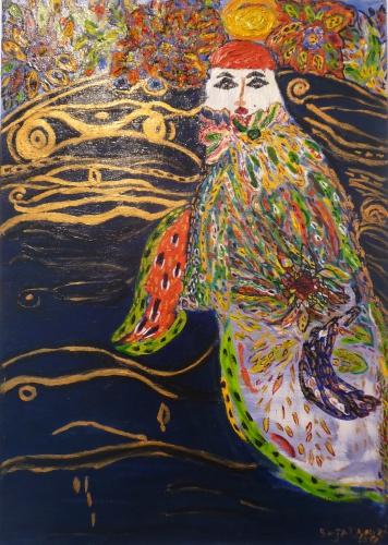 bajat,nouria,exposition,galerie,art nomade,peinture,bruxelles,le voyage de mes couleurs,art,culture