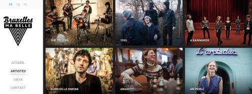 bruxelles ma belle,site musical,bruxelles,patrimoine,chanteurs,groupes,live,sessions acoustiques,musique,site web,culture