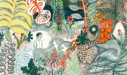 kitty crowther,jan toorop,le chant du temps,littérature,jeunesse,dessin,illustration,exposition,schaerbeek,bibliothèque sésame,europalia,indonésie,art,culture