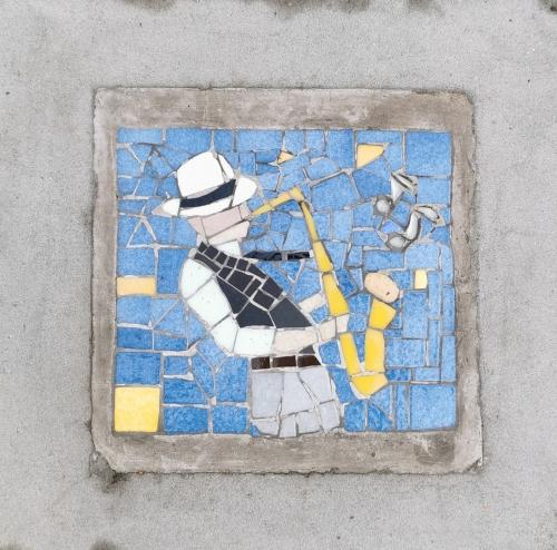 mosaïque,trottoir,couleur pavé,schaerbeek,1030,couleurs,bestiaire,balade,culture